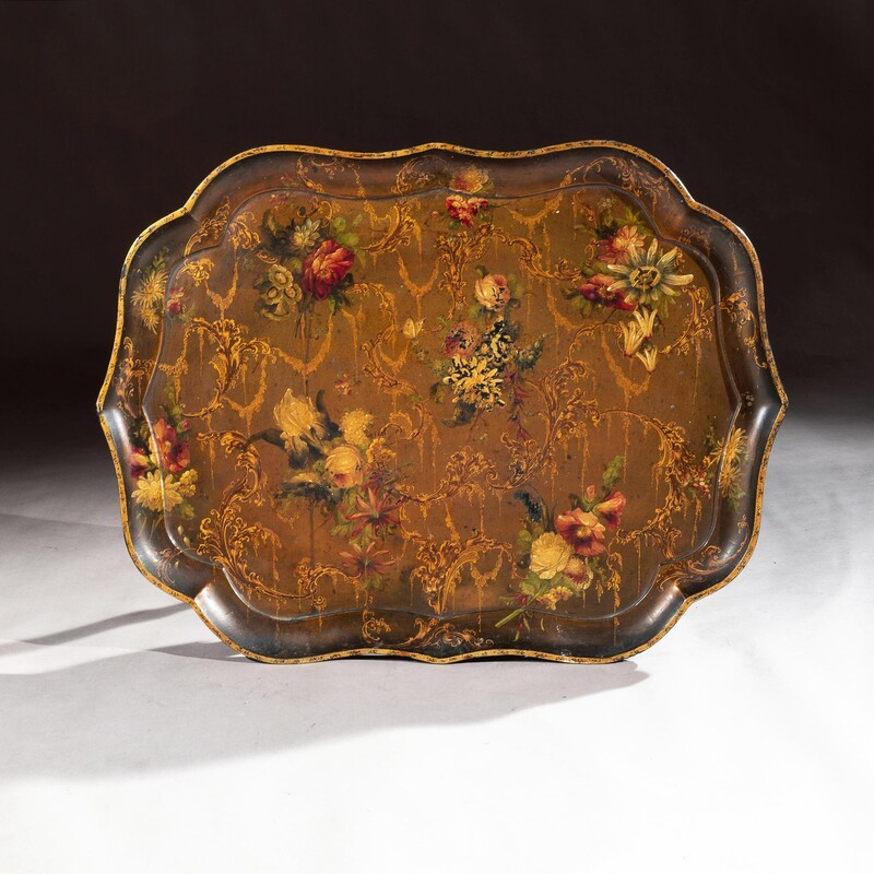 19th Century Papier Mache Tray by Jennings & Bettridge, London (Royal Makers)