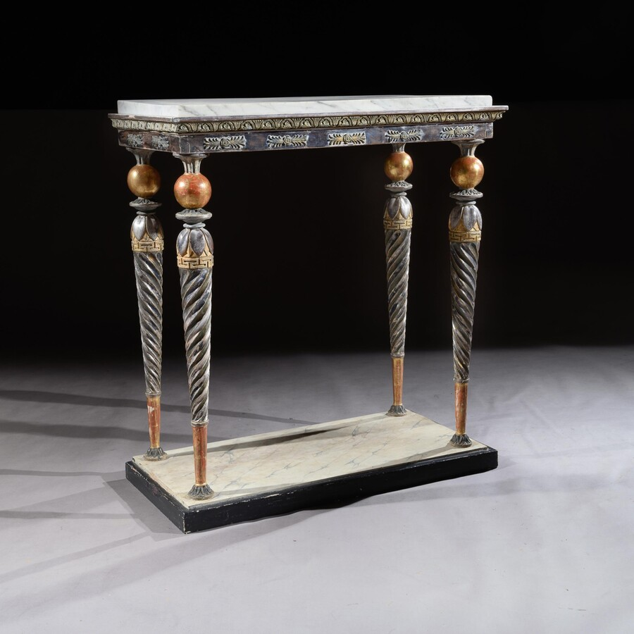 A Fine Swedish late Gustavian Console Table, Early 19th Century attributed to Jonas Frisk (active in Stockholm 1805-1824).